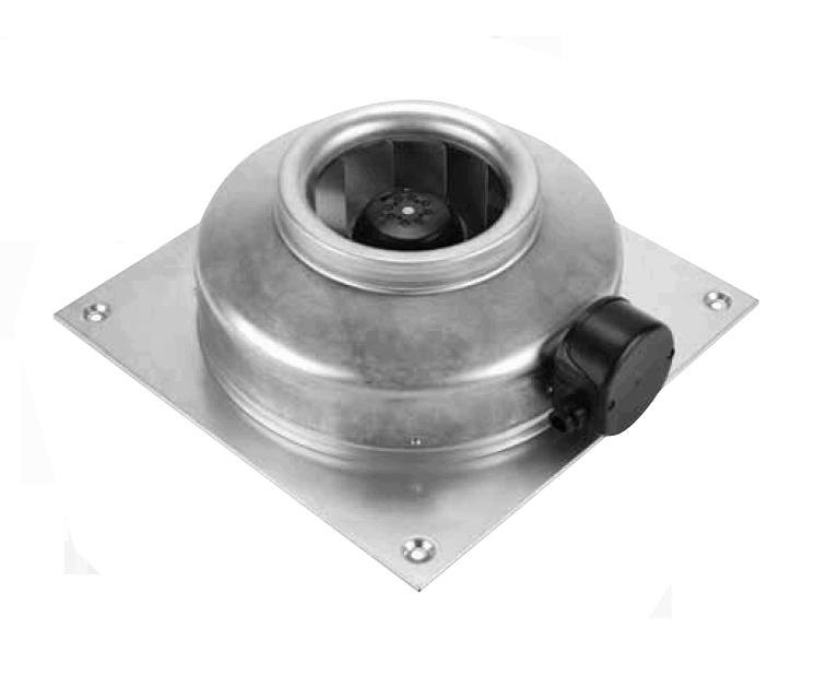 Radiální nástěnný ventilátor S&P RMQ 200 L