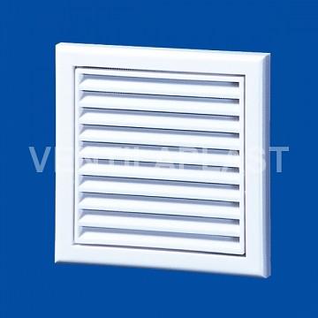 Plastová Ventilační mřížka VP MV 120 Vs (se síťkou a kruhovým nástavcem)