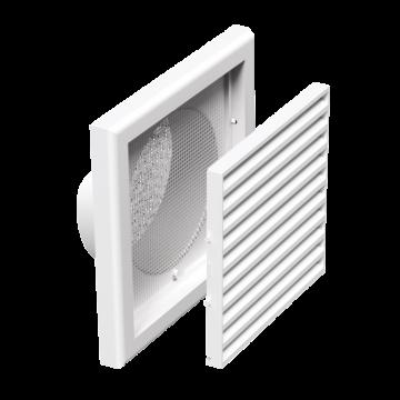 Plastová Ventilační mřížka VP MV 250/150 Vs (se síťkou a kruhovým nástavcem)