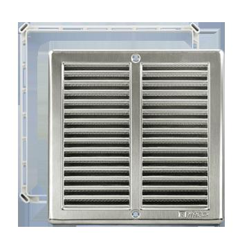 Čtyřhranné mřížky nerez se síťkou NVM 250 x 250