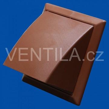 Větrací mřížka protidešťová hnědá VP 55x110/154x154 HPMh