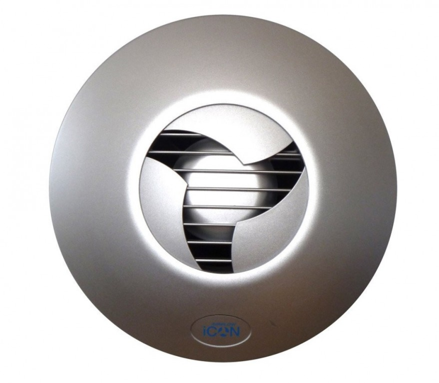 Koupelnový ventilátor ICON 15 stříbrný