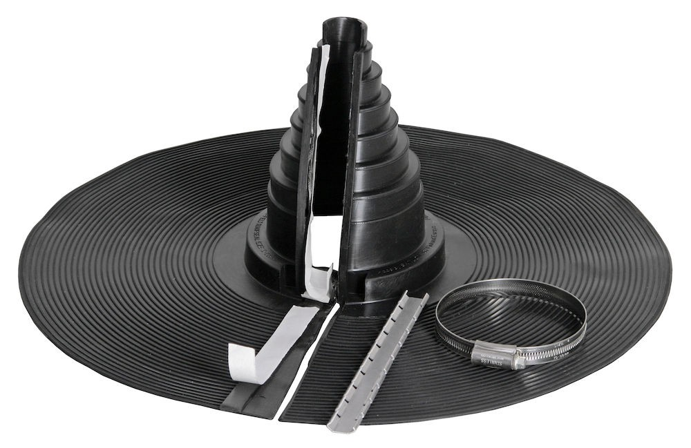 Těsnící průchodový prvek pro kulaté potrubí - RETROFIT Ø 19-90 mm