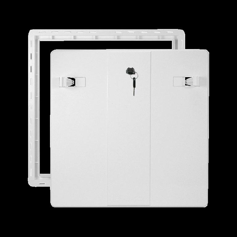 Koupelnová dvířka VP RD 600X600 Z B bílá se zámkem