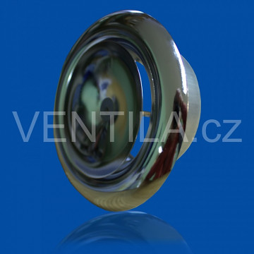 Talířový ventil přívodní KN-S Ø 200 mm - chrom